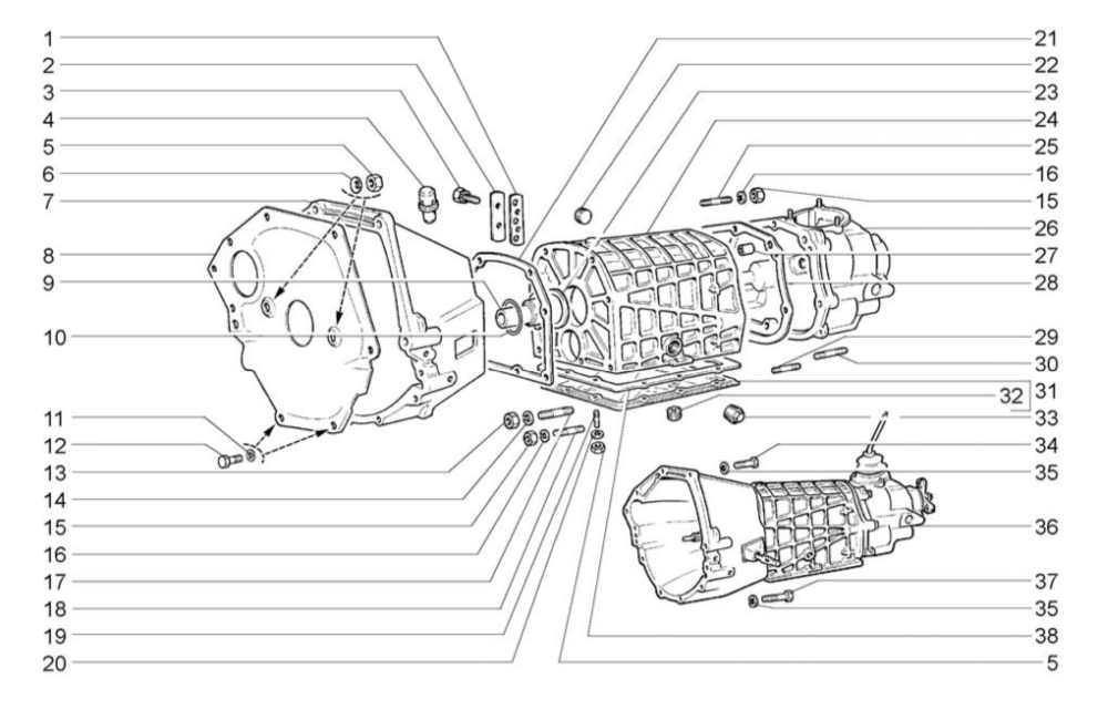 Схема кпп ваз-2101